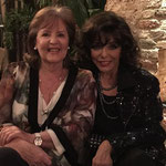 Joan with Pauline Collins at a party for prospective backers of their new film 'The Time of Their Lives'  March 21st 2015