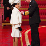 Joan receives her Damehood from Prince Charles at Buckingham Palace ..March 26th 2015