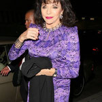 JOAN ARRIVES AT MR CHOW IN BEVERY HILLS FOR DINNER. JANUARY 2014