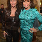 JOAN WITH JACQUELINE BISSET AT BAFTA LA'S PRE GOLDEN GLOBES TEA PARTY IN BEVERY HILLS