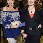 JOAN & JACKIE ARRIVE AT CLIVE DAVIS'S PRE GRAMMY GALA AT THE BEVERLY HILTON IN BEVERLY HILLS . JANUARY 25TH 2014