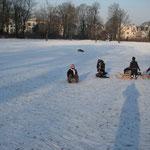 snö i Innocentiaparken