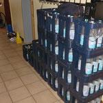 Unsere 20 Kisten Wasser