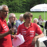 Karl Steiner li.  und Mattias Kraft