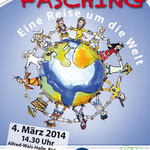 Plakat für Kinderfasching, Kinder- und Jugendhaus Birkach