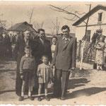 парад на 1 травня 1966 року  с.Загірне. Parade on May 1, 1966 s.Zahirne
