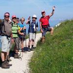 gutgelaunte Wandergruppe von Hagen-Alpin-Tours
