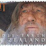 2 Neuseeland-Dollar-Briefmarke