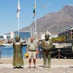 Luthuli, Tutu, DeClerk, Mandela und Bornmän