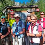 """die Teilnehmer einer Hagen-Alpin-Tours Wanderreise """"Dolomiten mit Komfort"""""""