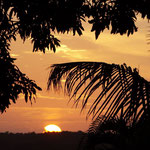 Sonnenuntergang im iSimangaliso Wetland Park