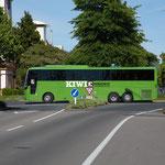 Kiwi-Reisebus, in Rotorua gesehen