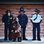 Garagentor der Polizeiwache in Bulls