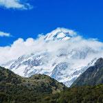 mit 3754 Metern höchster Berg Neuseelands: der Mount Cook