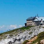 eine der schönsten Berghütten, die ich kenne, das Schlernhaus, Refugio Bolzano