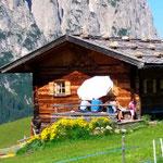 Hütte auf der Seiser Alm