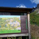 Hinweistafel vom Naturpark Puez - Geisler