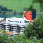 Blick auf die Queen Mary II