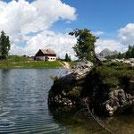 Lago Federa am Refugio Palmeri