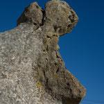 ich sehe ein Flußpferd - Steinformation bei Kurow
