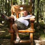 """Statist beim Film """"der Herr der Ringe"""". Nicht ich, der Stuhl"""