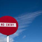 kein Zutritt in den Himmel