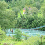 Hängebrücke in Stryn