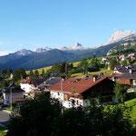 Blick von meinem Hotel Columbia in Cortina D´Ampezzo