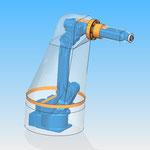 housse robot HDPR robotic cover motoman yaskawa avec joint tournant ax 4
