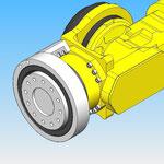 joint tournant axe 6 housse de protection pour robot fanuc hdpr robotic cover