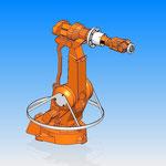 accessoire fixation housse de protection HDPR robot abb  robotic cover