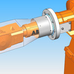 housse de protection HDPR robot abb  robotic coverbras joint tournant axe 4
