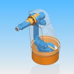 housse robot HDPR robotic cover motoman yaskawa équipé