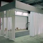 la construcción de la cortina de separación