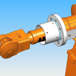 housse de protection HDPR robot abb  robotic cover joint tournant axe 4