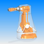 housse de protection HDPR robot abb  robotic cover arceau axe 1 joint tournant axe 4