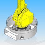 arceau fixe housse de protection pour robot fanuc hdpr