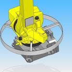 housse de protection pour robot fanuc hdpr arceau mobile