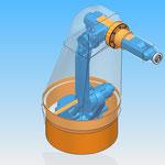 housse robot HDPR robotic cover motoman yaskawa avec arceau base