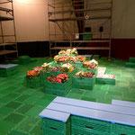 Probebühne Bildaufbau für Rakusa/Irman Oper