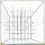 Paul Klee, Konstruktive Zeichnung aus dem Abschnitt Raumknotenpunkte
