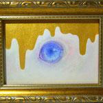 「猫の目とろり」 2016 100×148mm 紙に水彩、アクリル、色鉛筆