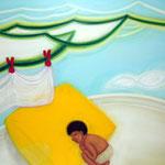 「オヤスミ」 2009 1121×1455mm キャンバスに油彩