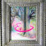 「バレンタイン」 2015 148×100mm 紙に水彩、アクリル、色鉛筆