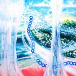 「舞う」 2016 455×455mm キャンバスに油彩