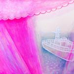 「窓から見た風景」 2011 318×412mm 紙に水彩、アクリル