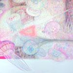 「ゼリーフィッシュ」 2012 1120×1455mm 紙に水彩、アクリル