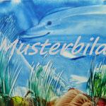 Delfin4 Heißwachsmalerei Encaustic Angela Heise