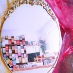 Spiegelschrift - Foto-Encaustic Angela Heise