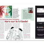 Magazine 360°. Rédaction Image, double page